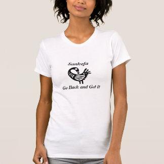 Sankofaの女性カジュアルなスコップのKneckのティー Tシャツ