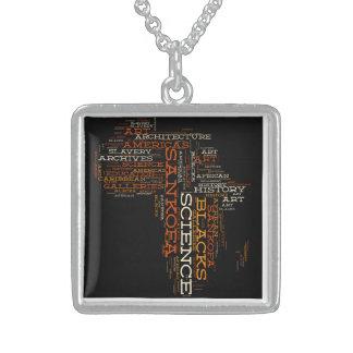 Sankofaはキーホルダーをアーカイブします スターリングシルバーネックレス