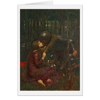 Sans Merci 1893年Laの美女の貴婦人(キャンバスの油) カード