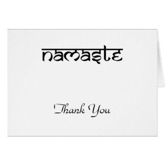 Sanskritスタイルのナマステのデザイン カード
