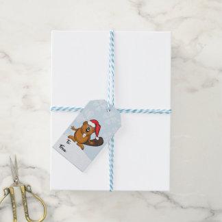 Santa beaver christmas gift tag ギフトタグ