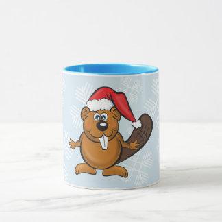 Santa beaver mug マグカップ
