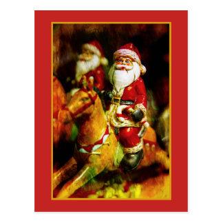 Santa Claus on Carousel ポストカード