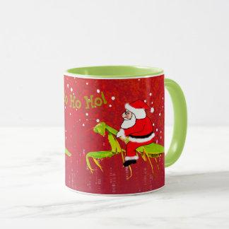 Santa On Praying Mantis Weird Christmas Mug マグカップ