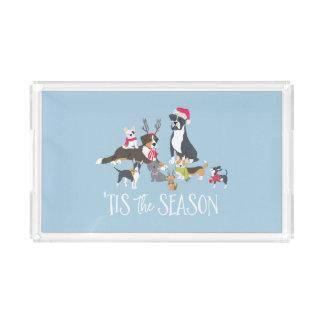"""""""Santa Paws"""" Dog-Themed Christmas アクリルトレー"""