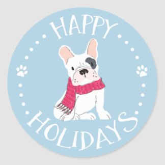 Santa Paws - Dog-Themed Happy Holidays ラウンドシール