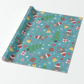 Santa Sloths - Cute Christmas Pattern ラッピングペーパー
