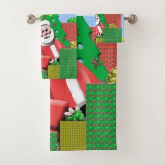 Santa Under The Christmas Tree バスタオルセット