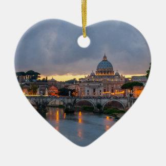 Sant'Angelo橋セントピーターのバシリカ会堂ローマイタリア セラミックオーナメント