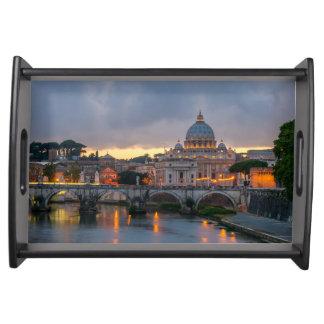 Sant'Angelo橋セントピーターのバシリカ会堂ローマイタリア トレー