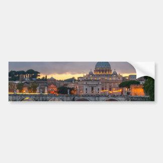 Sant'Angelo橋セントピーターのバシリカ会堂ローマイタリア バンパーステッカー