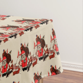 SANTA'S IN THE WOODS  table cloth テーブルクロス