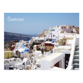 Santoriniの島ギリシャ ポストカード