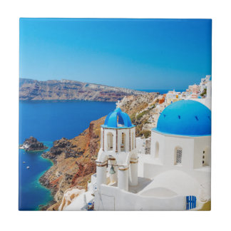 Santoriniの島-カルデラ、ギリシャ タイル