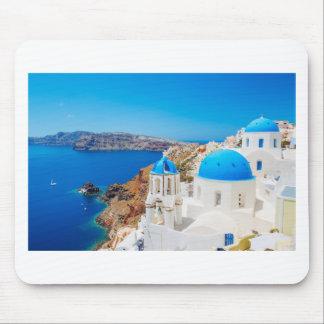 Santoriniの島-カルデラ、ギリシャ マウスパッド