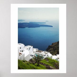 Santoriniの島、ギリシャ ポスター