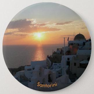 Santoriniの日没の円形ボタン 缶バッジ
