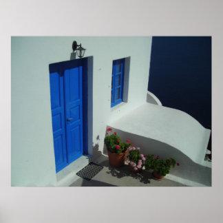 Santoriniの玄関口 ポスター