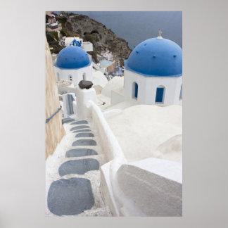 Santoriniの眺め ポスター