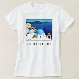 Santoriniの記念品のTシャツ(人、女性、子供) Tシャツ