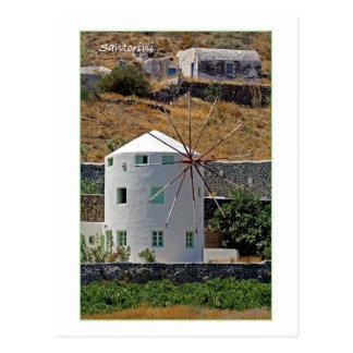 Santoriniの風車 ポストカード