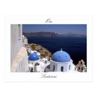 SantoriniのOiaの郵便はがき ポストカード