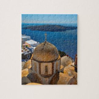 Santoriniギリシャのカルデラ教会 ジグソーパズル
