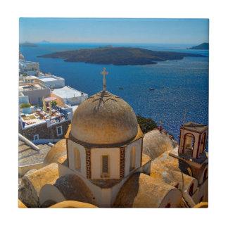 Santoriniギリシャのカルデラ教会 タイル