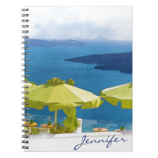 Santoriniギリシャの絵画 ノートブック