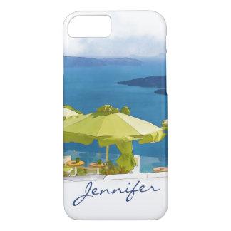Santoriniギリシャの絵画 iPhone 7ケース