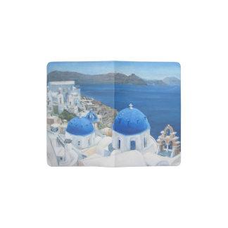 Santoriniギリシャの芸術 ポケットMoleskineノートブック