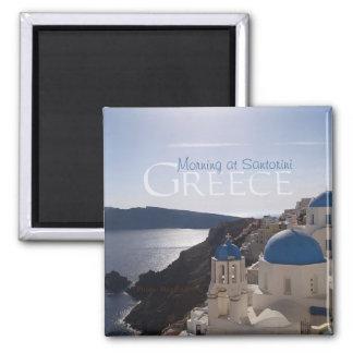 Santoriniギリシャの記念品の冷蔵庫用マグネットの朝 マグネット