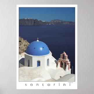 Santoriniギリシャポスター(フィルムの写真撮影) ポスター
