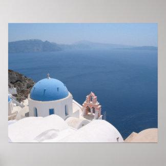 Santoriniギリシャ ポスター