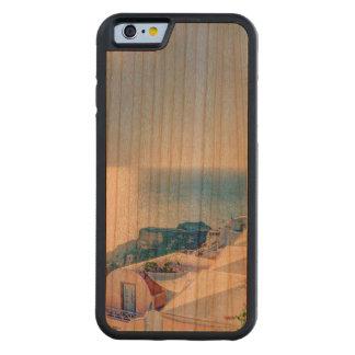 Santoriniギリシャ CarvedチェリーiPhone 6バンパーケース