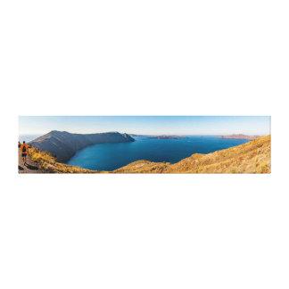 Santoriniリッジのパノラマ キャンバスプリント
