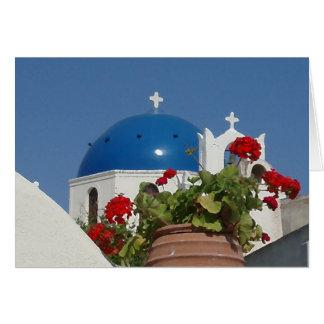 Santorini、ギリシャの教会意見 カード