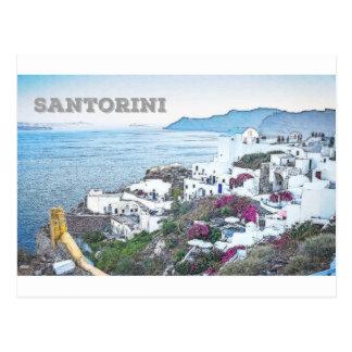 Santorini、ギリシャ ポストカード