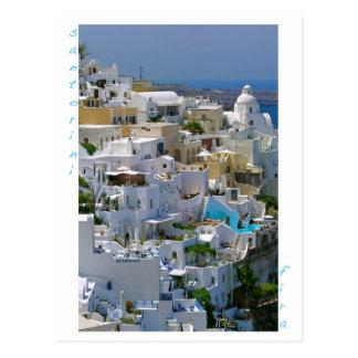 Santorini Firaの郵便はがき ポストカード
