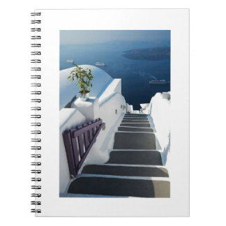 Santorini Oiaのステップ、ギリシャ ノートブック
