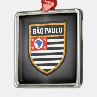 Sãoパウロの旗 メタルオーナメント