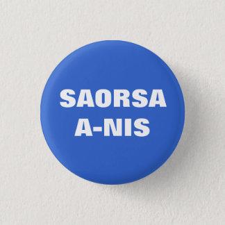 Saorsa今Nisの自由スコットランドPinback 3.2cm 丸型バッジ