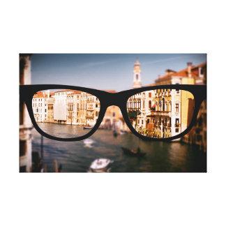 Sapioガラスを通したイタリア キャンバスプリント