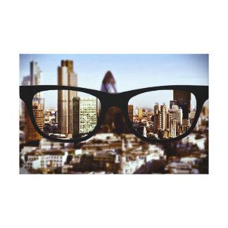 Sapioガラスを通したロンドン キャンバスプリント