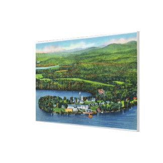 Saranacのインの空中写真 キャンバスプリント