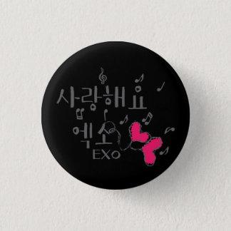 sarangのhaeyoのexoのkpopの円形ボタン 3.2cm 丸型バッジ