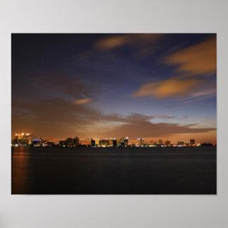 Sarasotaのスカイライン ポスター