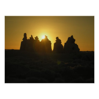 Sarasotaの砂の城の日没の大きいポスター ポスター