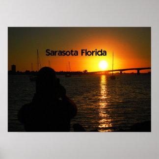 Sarasotaフロリダの日没 ポスター