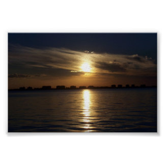 Sarasota湾の日没 ポスター